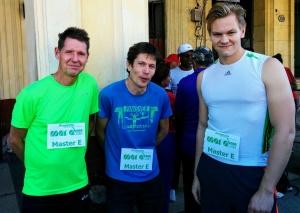 Tre av Globalrunners resenärer, redo för start i Maracuba, välkomstloppet dagen före Havanna Maraton, halvmaraton och 10 km.