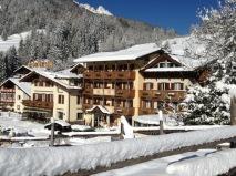 På Hotel Patrizia ingår halvpension med rikliga frukostar och middagar varje dag. Ett fint spa välkomnar dig efter dagens skidåkning och gratis skidbuss till San Pellegrino och Alpe Lucia.
