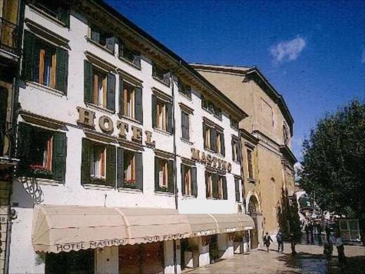 Hotel Mastino som vi bor på ligger nära både start och mål för loppen, mitt i Gamla Stan i Verona.
