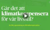 Se DN:s film om klimatkompensation genom att trycka på bilden.