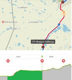 Etapp 2: Abiskojaure - Alesjaure, 21 km