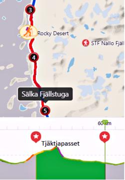 Etapp 4: Tjäktja - Sälka, 13 km
