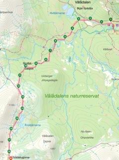 Etapp 1: Vålådalen - Vålåstugan, 19 km