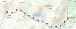 Etapp 2: Vålåstugan - Gåsen, 14 km
