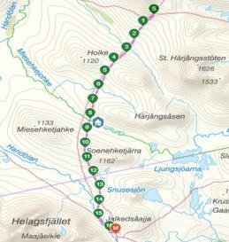 Etapp 3: Gåsen - Helags, 16 km