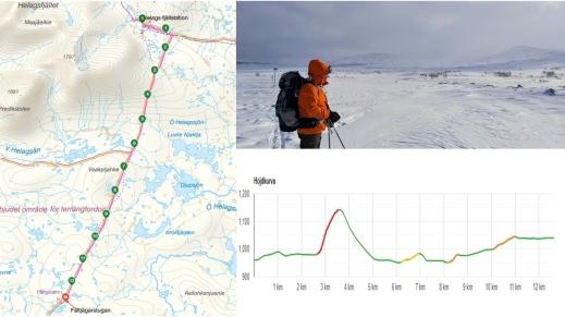 Etapp 4: Helags - Fältjägarn, 13 sköna  kilometrar med magiska vyer på kalfjället.