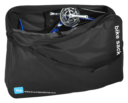 Exempel på cykeltransportväska vars mått är godkända enligt SJ:s bagageregler. Väskan kan inhandlas på bland annat XXL i Sverige för 499 kronor. Det kan dock vara skönt att ha en som går på hjul, för det blir rätt tungt om du behöver bära både cykelväska och ditt bagage.