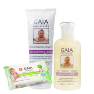 Skin Soothing Lotion, Sleeptime Bath & Bamboo Baby Wipes 20p