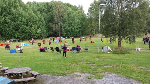 Märsta-Sigtuna brukshundsklubbs  bild på sin agilitybana