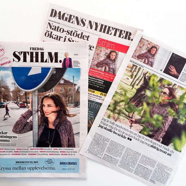 Dagens Nyheter 6 maj 2016.