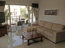 Vardagsrum på lägenhetshotell Grand Beach Condominium