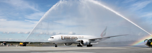 Emirates flyger till Oslo Gardemoen