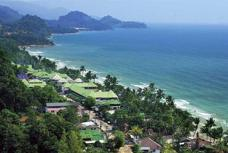 Utsikt över White sand Beach på Koh Chang