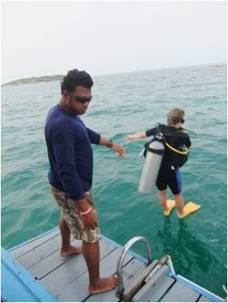 Dykning i Mae Phim