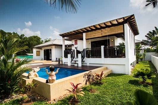 Villa på Palm Leaf i Thailand