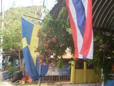 Utanför Nois café Mae Rumphung