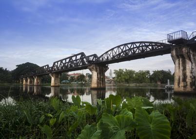 Bron över floden Kwai Thailand