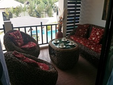 Balcony at Palm Leaf Apartment in Mae Phim