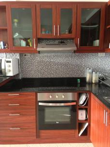 Kitchen Palm Leaf apartment for rent Thailand