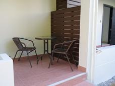 Baksidan av Lägenheten på Palm Leaf i Thailand