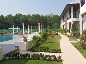Palm Leaf Poolområde Thailand