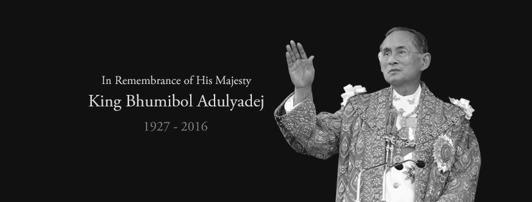 Till minne av Thailands kung