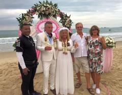 Bröllop på stranden i Thailand
