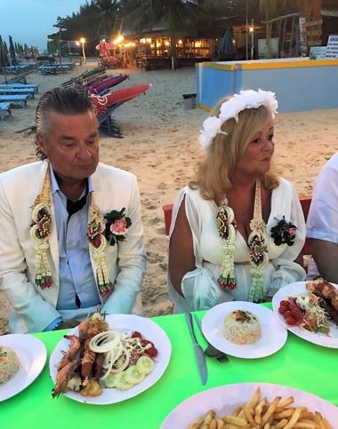 Bröllopsmiddag på Stranden