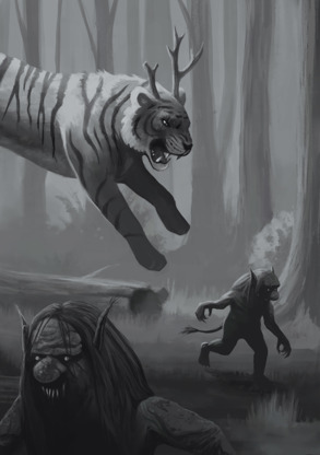 Attack on the forest creatures