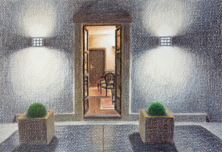 Looking in, 2014, colour pencil, 20x29cm