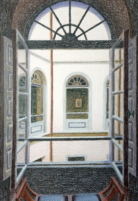 The room inside, 2014, colour pencil, 29x20cm