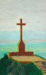 San Salvador, 2016, oil pastell, 15x10 cm