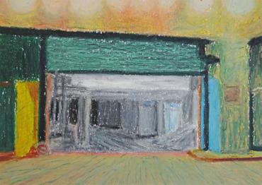 Inside, 2016, oil pastell, 13x18 cm