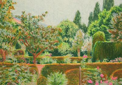 Garden, 2016, oil pastell, 21x30 cm
