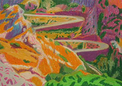 Climbing, 2016. oil pastell, 21x30 cm
