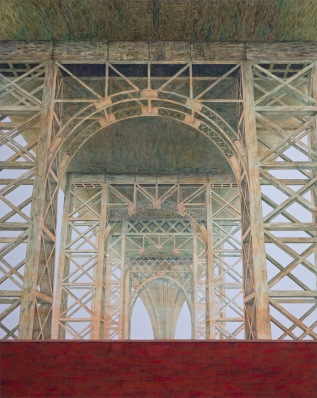 Williamsburg bridge, 2010, oil on canvas, 220x175cm