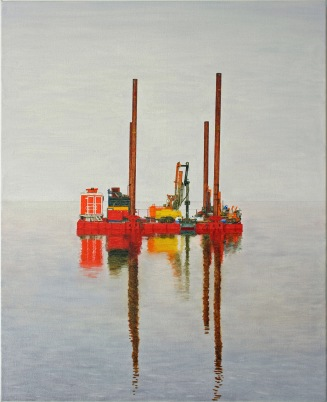 The raft, 2010, oil on canvas, 60x74cm