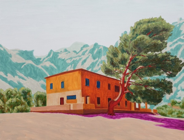 The house in Tuent, 2017, oil on canvas, 55x72 cm