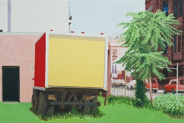 Parked, 2014, oil on canvas, 39x58cm