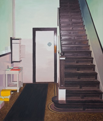 Studio stairs, 2013, oil on canvas, 93x79cm