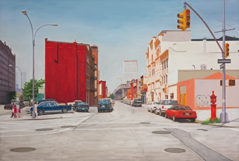X-ing Broadway/S 6th st, 2013, oil on canvas, 122x180cm