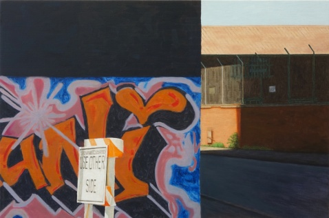 Street corner #2, 2013, oil on canvas, 51x77 cm