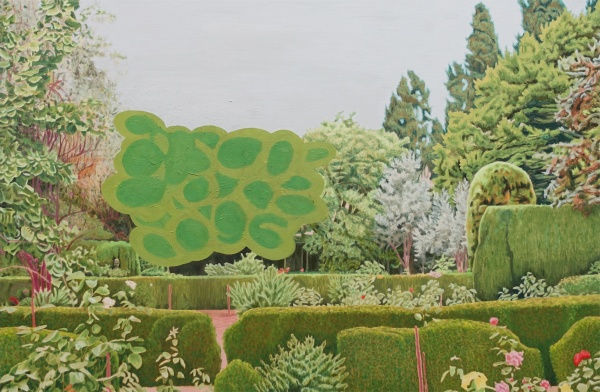 Garden, 2018, oil on canvas, 81x122cm