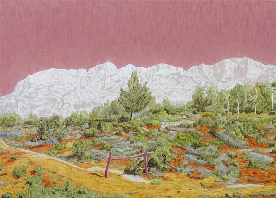 La montagne blanche, Oil on canvas, 51x71cm, 2020