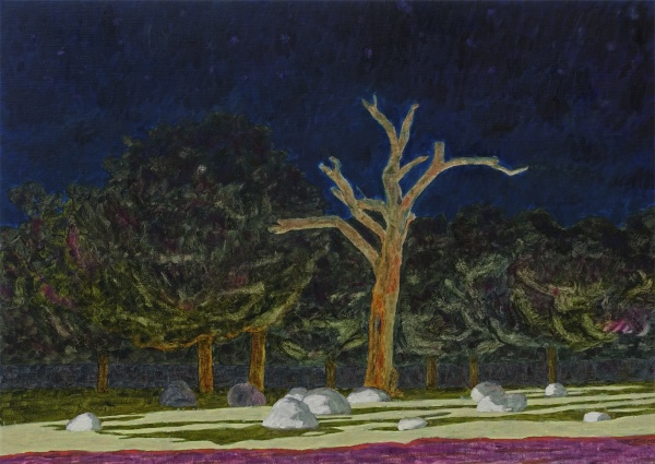 Night park, 2020, oil on canvas, 51x71cm