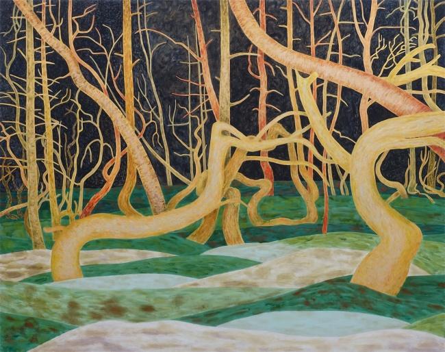 Night light, 2020, oil on canvas, 175x220cm