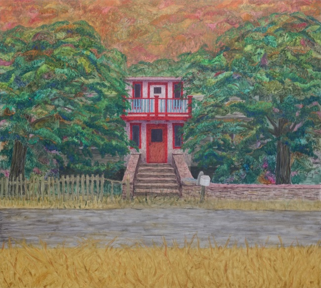 The siblings house, 2020, oil on canvas, 180x200cm