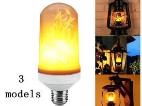 Led Lampa med Eldflams effekt - Led Flame Light E27