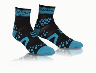 Compressport Pro Racing High 3:D Dot Fullsocks - PRS Proracing socks - RUN HIGH blå/svart T2