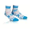 Compressport Pro Racing High 3:D Dot Fullsocks - PRS Proracing socks - RUN HIGH vit/blå T5